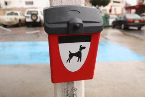 Dog poo bags distribution